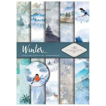 Set of scrapbooking papers - Winter - ITD Collection - SCRAP019