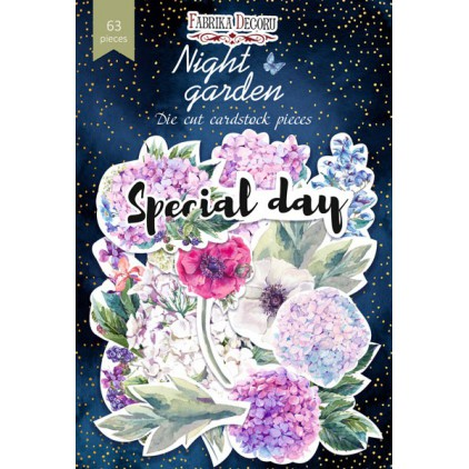 Set of die cuts 63 pieces - Night garden - Fabrika Decoru FDSDC-04072