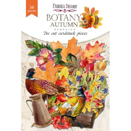 Set of die cuts 63 pieces - Botany Autumn redesign - Fabrika Decoru FDSDC-04072