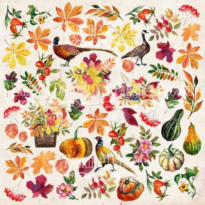 Papierowe dodatki, elementy do wycięcia - Fabrika Decoru - Botany Autumn redesign - Obrazki do wycinania