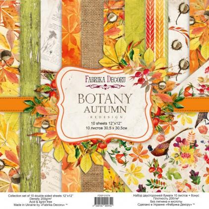Zestaw papierów do tworzenia kartek i scrapbookingu - Fabrika Decoru - Botany Autumn redesign - FDSP-01074