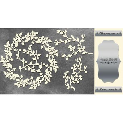 tekturka srebrna Wreath and twigs - Fabrika Decoru FDCH 084