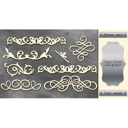 tekturka srebrna Monograms 1 - Fabrika Decoru FDCH 67