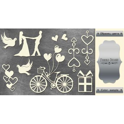 laser cut, chipboard silver foiled - Wedding of our dream - Fabrika Decoru FDCH 120