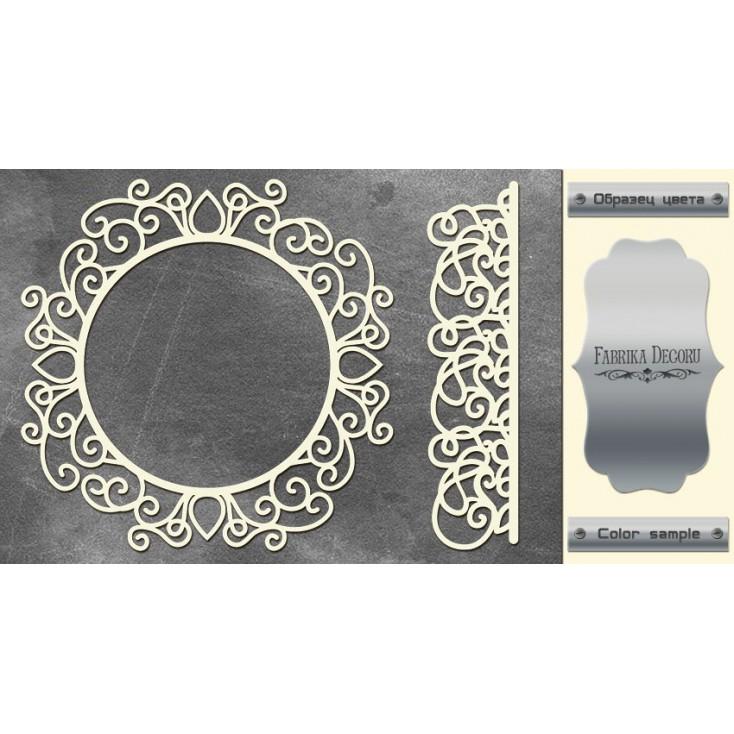 laser cut, chipboard silver foiled - Frame and border - Fabrika Decoru FDCH 74