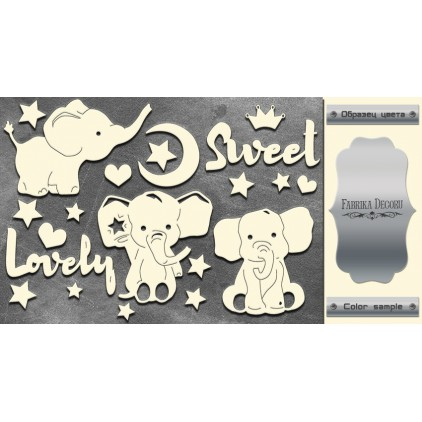laser cut, chipboard silver foiled - My little baby boy 2 - Fabrika Decoru FDCH 109