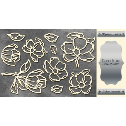 tekturka srebrna Magnolia Sky - Fabrika Decoru FDCH 06