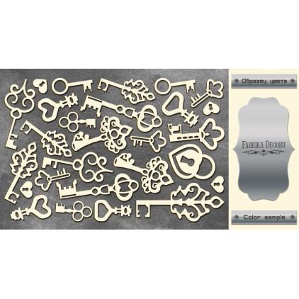 tekturka srebrna Keys - Fabrika Decoru FDCH 14