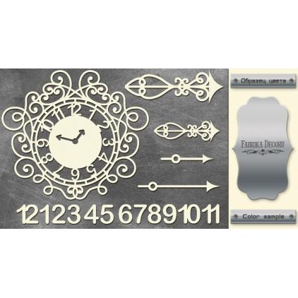 tekturka srebrna Clock face - Fabrika Decoru FDCH 72
