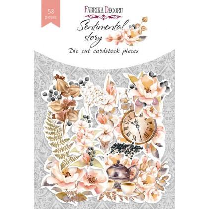 Wycinanki z papieru 58 części - Sentimental story - Fabrika Decoru FDSDC-04067