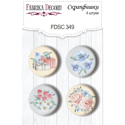 Selfadhesive buttons/badge - Fabrika Decoru - 349 Shabby baby girl