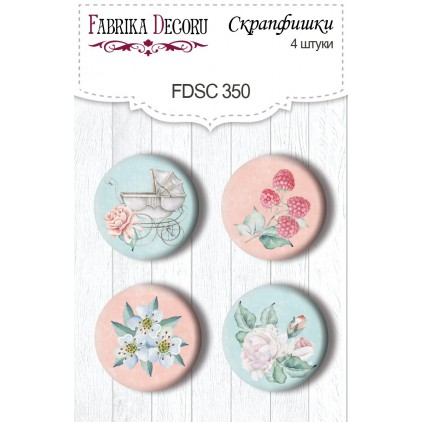 Selfadhesive buttons/badge - Fabrika Decoru - 350 - Shabby baby girl redesign