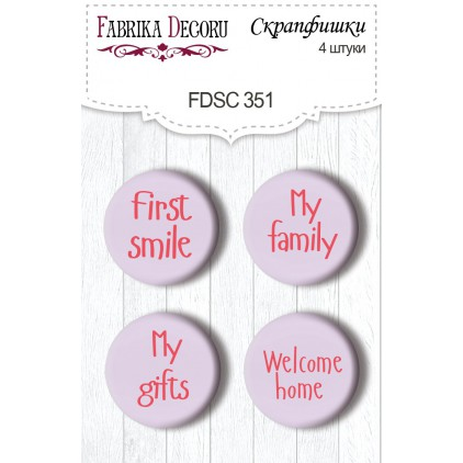 Selfadhesive buttons/badge - Fabrika Decoru - 351 - Shabby baby girl redesign