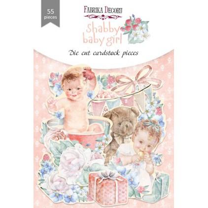 Set of die cuts 55 pieces - Shabby baby girl - Fabrika Decoru FDSDC-04076