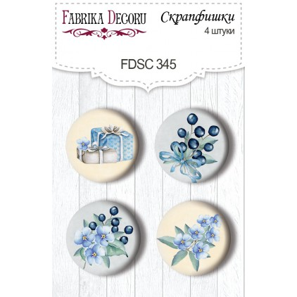 Selfadhesive buttons/badge - Fabrika Decoru - 345 Shabby baby boy redesign