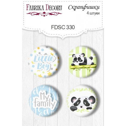 Selfadhesive buttons/badge - Fabrika Decoru - 330 my little Panda boy