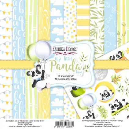 Zestaw papierów do tworzenia kartek i scrapbookingu 20 x 20cm - Fabrika Decoru - my little Panda boy FDSP-02069