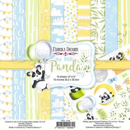 Zestaw papierów do tworzenia kartek i scrapbookingu - Fabrika Decoru - my little Panda boy - FDSP-01069