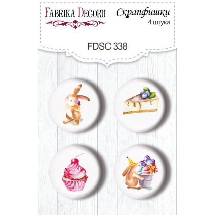 Selfadhesive buttons/badge - Fabrika Decoru - 338 Sweet birthday