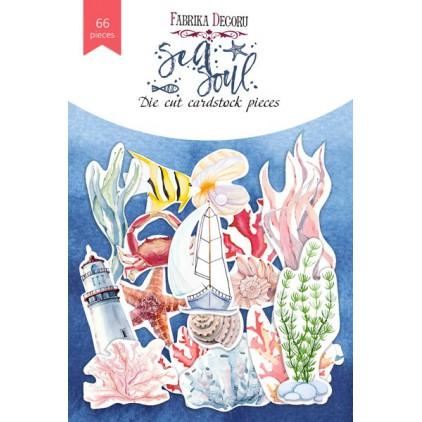Wycinanki z papieru 66 części - Sea soul - Fabrika Decoru FDSDC-04070