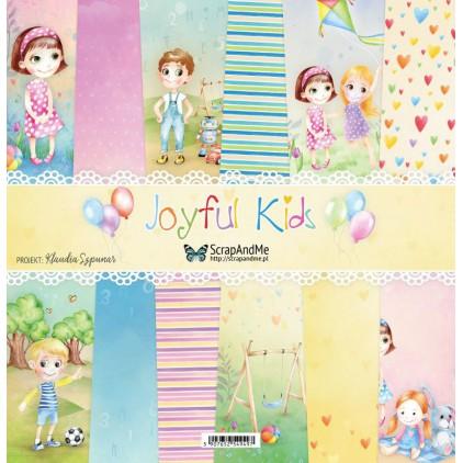 Joyful Kids - Papiery do scrapbookingu 30x30cm - Zestaw - ScrapAndMe