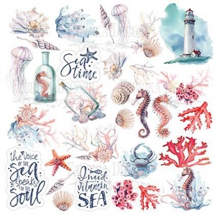 Papierowe dodatki, elementy do wycięcia - Fabrika Decoru - Sea soul - Obrazki do wycinania