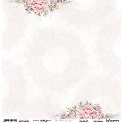 Nice Moments 05/06 - Papier w kwiaty, papier do scrapbookingu 30x30 cm - ScrapAndMe