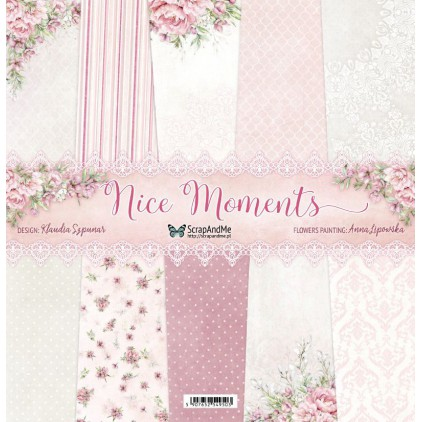 Nice Moments, small paper pad - Sets of scrapbooking papers 15x15cm - ScrapAndMe
