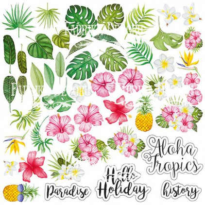 "Wild Tropics - elements to cut out 12x12"" - Fabrika Decoru"