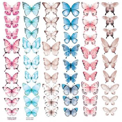 Butterflies 2 obrazki do wycinania, papier do scrapbookingu 30x30cm - Fabrika Decoru
