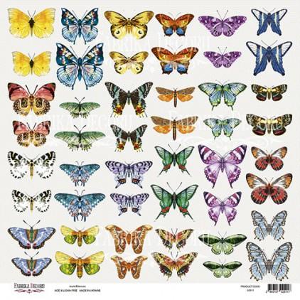 Butterflies 7 obrazki do wycinania, papier do scrapbookingu 30x30cm - Fabrika Decoru