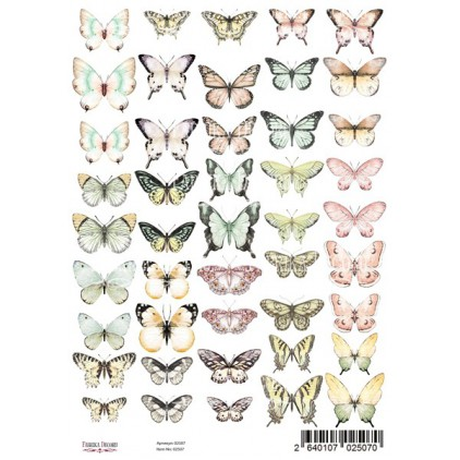 Butterflies elements to cut out, scrapbooking paper A4- Fabrika Decoru
