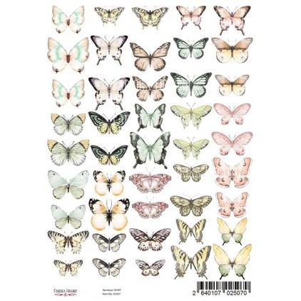 Butterflies obrazki do wycinania, papier do scrapbookingu A4 - Fabrika Decoru