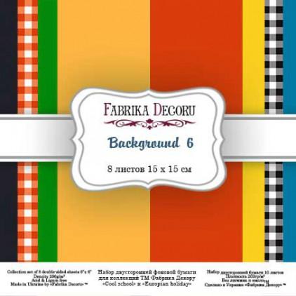 Background 6, mały bloczek - papiery do scrapbookingu 15x15cm - zestaw - Fabrika Decoru