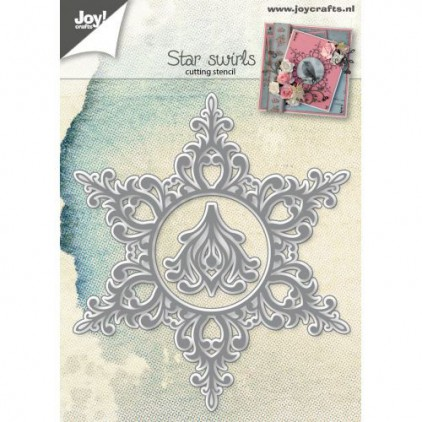 Gwiazdka, ramka ornament - wykrojniki do papieru - Joy Crafts Star swirls 6002/0788