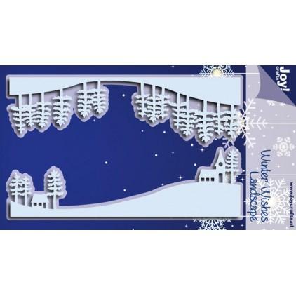 zimowy widok góry - wykrojniki do papieru - Joy Crafts Winter Wishes Landscape 6002/0697