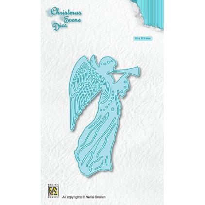 """anioł boże narodzenie - wykrojniki do papieru - Nellie's Choice Christmas scene Dies """"Angel"""" CRSD001"""