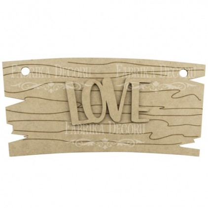 signboard with the word love - decoration base - factory decor fdpo-120