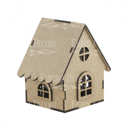 hut with windows - decoration base - factory decor fdpo-108
