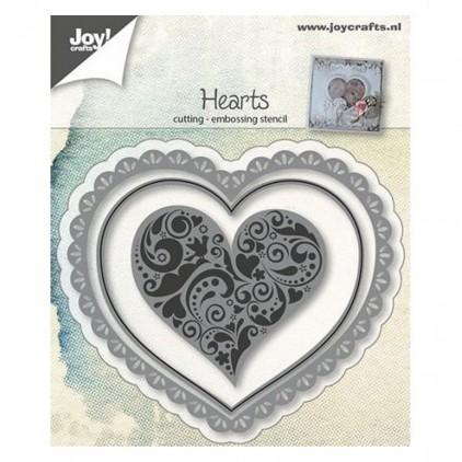 serce serwetka- wykrojniki do papieru - Joy Crafts Hearts 6002/0642
