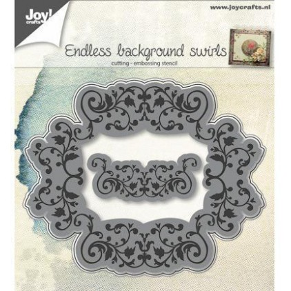 tło, ramka- wykrojniki do papieru - Joy Crafts Endless background swirls 6002/0649