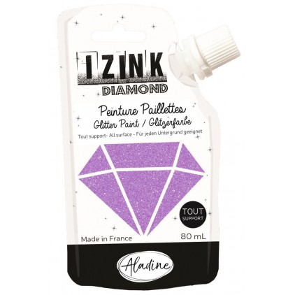 glitter paint - aladine izink diamond rose - 80ml - heather