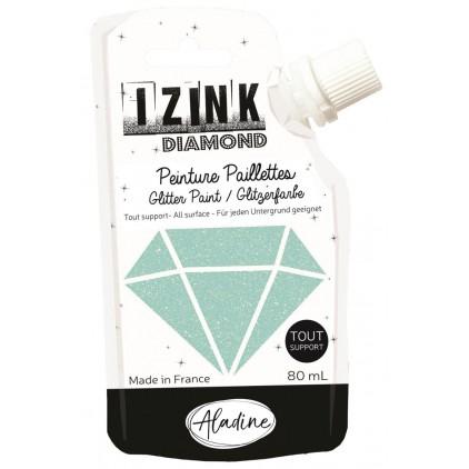 farba z brokatem - aladine izink diamond vert pastel - 80ml - miętowa