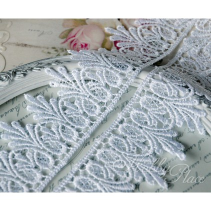 Guipure lace - widh 55mm - white - 1 meter