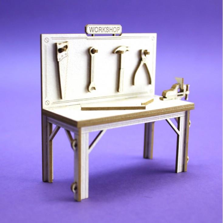 Tekturka 3d - Crafty Moly - Stół warsztatowy