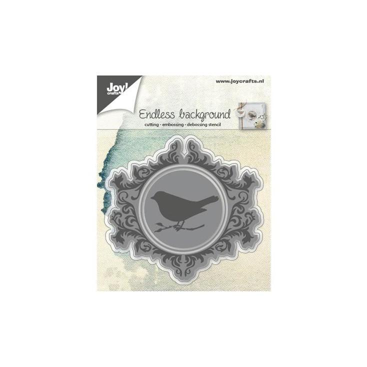 tło, ramka, ptaszek - wykrojniki do papieru - Joy Crafts Endless background swirls 6002/0573