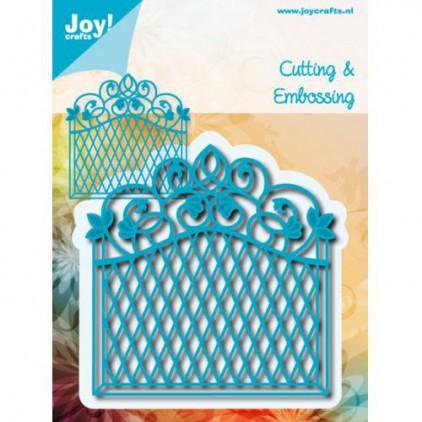 płot, brama wykrojniki do papieru - Joy Crafts 6002/0563