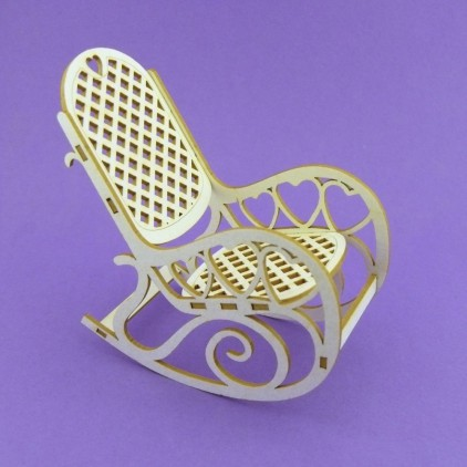Cardboard element 3d a rocking chair - Crafty Moly 979