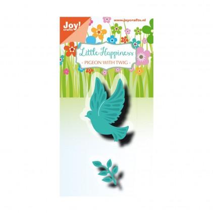 pigeon with twig- cutting die Joy Crafts 6002/1315