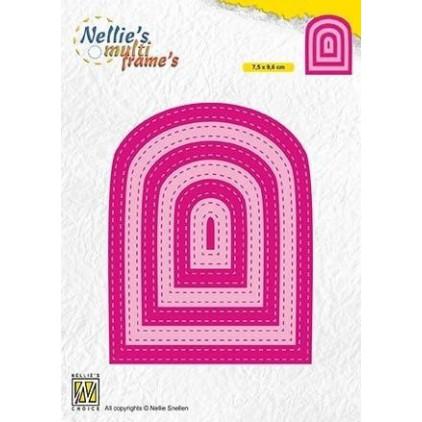 przeszywane łuki, okno wykrojniki do papieru - Nellie's Choice MFD131-stiched bows